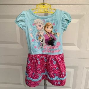 Disney frozen graphic dress.
